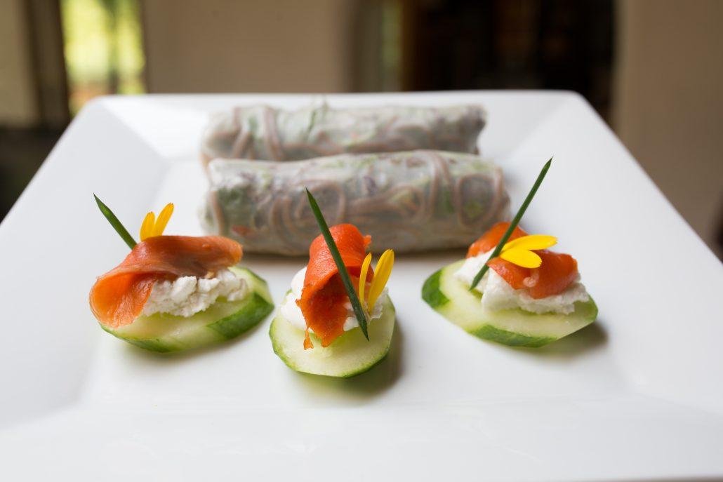 Veggie Wraps, Cucumber Canapes