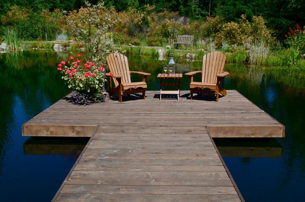 Dock on swim pond
